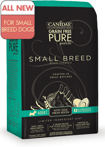 Canidae Grain Free Dog Food Pure Petite Small Breed Bison