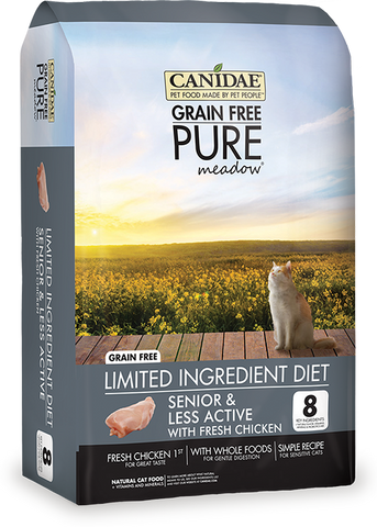 Canidae Grain Free Pure Meadow Senior Cat Food with Chicken