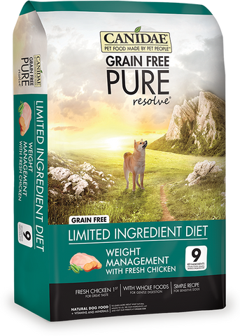 Canidae Grain Free Pure Resolve Weight Management  Dog Food with Chicken