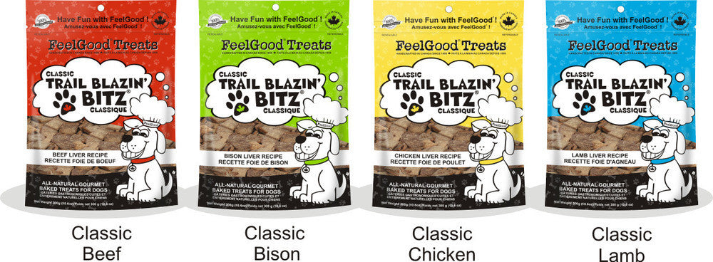 FEELGOOD Classic Trail Blazin' Bitz - Beef / Bison / Chicken / Lamb - Canadian Pet Connection
