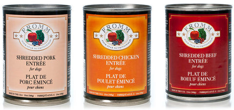 FROMM Four Star Canned Dog Food (Sold By the Case) - All flavours for All Life Stages