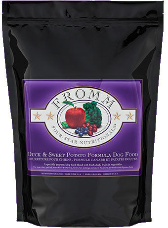 FROMM Four Star Ultra Premium Dog Food with Duck and Sweet Potato for All Life Stages