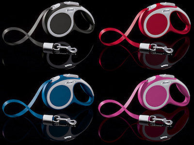 FLEXI Vario Tape Leash Extra Small - 3m/10ft (12kg/26lbs) - Anthracite / Red / Blue / Pink - Canadian Pet Connection