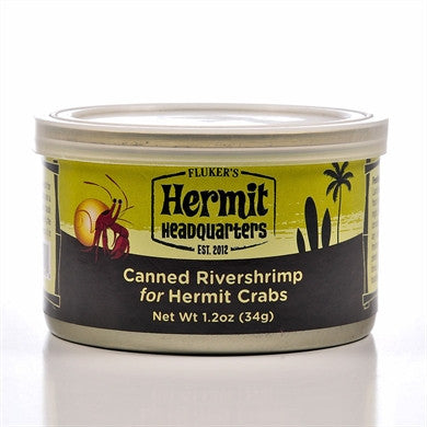 Flukers Canned Rivershrimp for Hermit Crabs