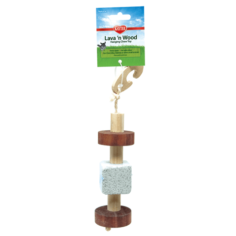 Kaytee Lava 'n Wood Hanging Chew Toy for Small Animals