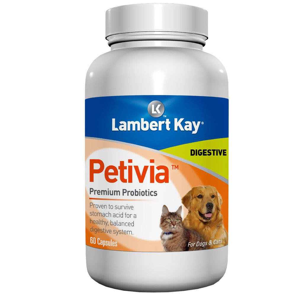 Lambert Kay Petivia Probiotic Capsules for Dogs and Cats