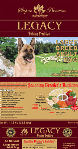 Legacy Large Breed Adult Dog Food