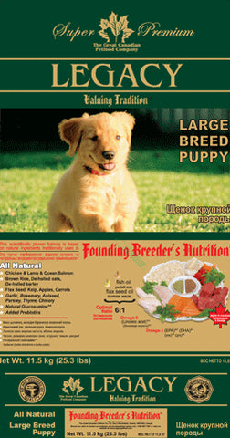 Legacy Large Breed Puppy Dog Food