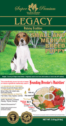 Legacy Small Breed and Medium Breed Puppy Dog Food
