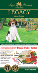 Legacy Small Breed and Medium Breed Puppy Dog Food - Canadian Pet Connection