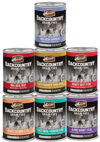MERRICK Backcountry Canned Dog Food (Sold by the Case) - All Flavours for All Life Stages