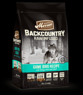 MERRICK Backcountry Grain Free Dog Food - Game Bird - for All Life Stages
