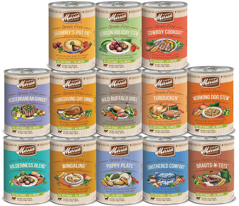 MERRICK Classic Canned Dog Food (Sold by the Case) - All Sizes All Flavours for All Life Stages