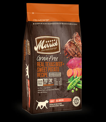 MERRICK Grain Free Dog Food - Beef and Sweet Potato - for All Life Stages