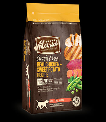 MERRICK Grain Free Dog Food - Chicken and Sweet Potato - for All Life Stages