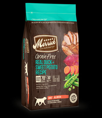 MERRICK Grain Free Dog Food - Duck and Sweet Potato - for All Life Stages
