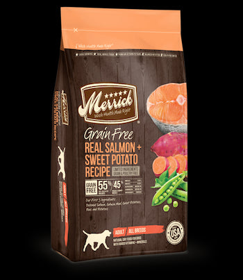 MERRICK Grain Free Dog Food - Salmon and Sweet Potato - for All Life Stages