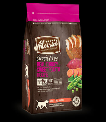 MERRICK Grain Free Dog Food - Turkey and Sweet Potato - for All Life Stages