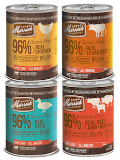 MERRICK Grain Free Canned Dog Food (Sold by the Case) - All Flavours for All Life Stages