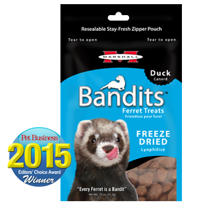 Marshall Bandits Freeze Dried Duck Treats for Ferrets