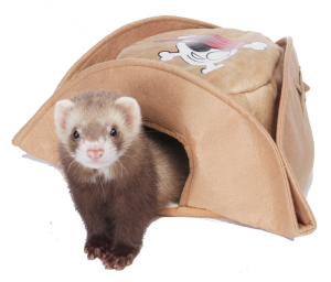Marshall Pirate Hat Bed for Ferrets and Small Animals