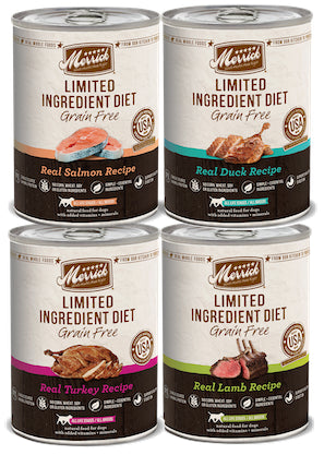 Merrick LID (Limited Ingredient Diet) Grain Free Canned Dog Food (Sold by the Case) - All Flavours for All Life Stages - Canadian Pet Connection