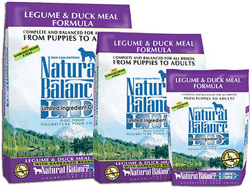 NATURAL BALANCE L.I.D. Limited Ingredient Dog Food Legume and Duck for All Life Stages