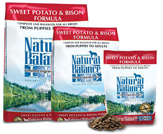 NATURAL BALANCE L.I.D. Limited Ingredient Dog Food Sweet Potato / Bison