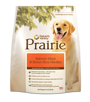 NATURE'S VARIETY Prairie Salmon and Brown Rice Dog Food for All Life Stages