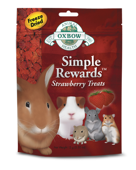 OXBOW Simple Rewards Strawberry Treats  at Canadian Pet Connection