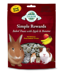 Oxbow Simple Rewards Baked Treats for Small Animals - Apple and Banana at Canadian Pet Connection