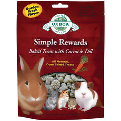 Oxbow Simple Rewards Baked Treats for Small Animals - Carrot and Dill at Canadian Pet Connection