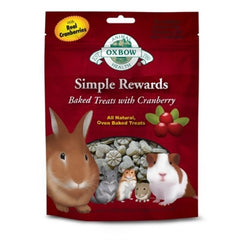 Oxbow Simple Rewards Baked Treats for Small Animals - Cranberry at Canadian Pet Connection