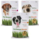 PET GREENS (By Bell Rock Growers) - Dog Biscuits - P'Nut Butter & Pumpkin / Healthy Salmon / Turkey & Sweet Potato - Canadian Pet Connection