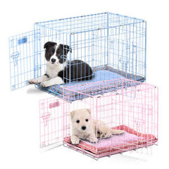 PRECISION ProValue Puppy Crates BLUE OR PINK - Canadian Pet Connection