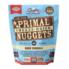 Primal Freeze Dried Cat Food - Duck Nuggets - Grain Free for All Ages
