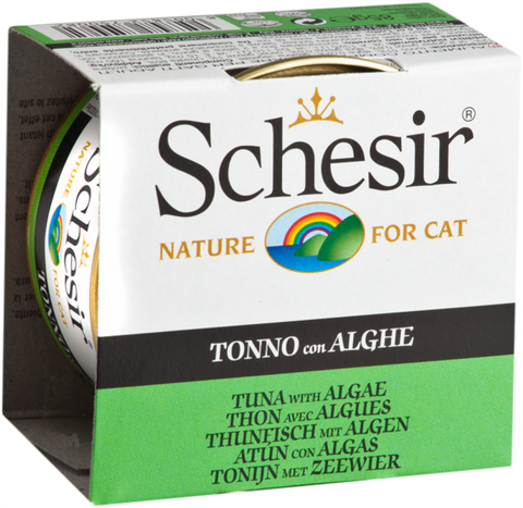 Schesir Tuna and Seaweed Canned Cat Food