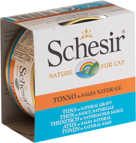 Schesir Tuna in Natural Gravy Canned Cat Food