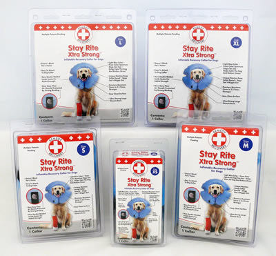 STAY RITE™ Xtra Strong Inflatable Recovery Collar for Dogs - Canadian Pet Connection