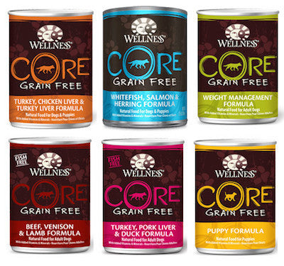 WELLNESS CORE GRAIN FREE Wet Dog Food (Sold by the Case) - All Flavours for All Life Stages - Canadian Pet Connection