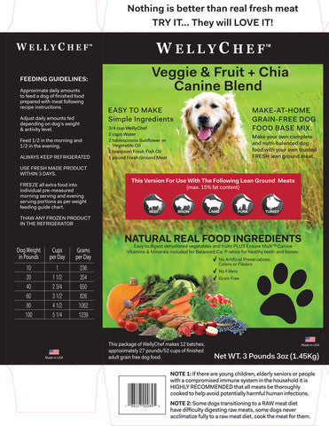 WELLYCHEF Make at Home Dog Food - by Wellytails - Grain Free Food for All Life Stages