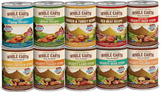 WHOLE EARTH FARMS Grain Free Canned Dog Food by Merrick (Sold by the Case) - All Flavours for Puppy and All Life Stages - Canadian Pet Connection