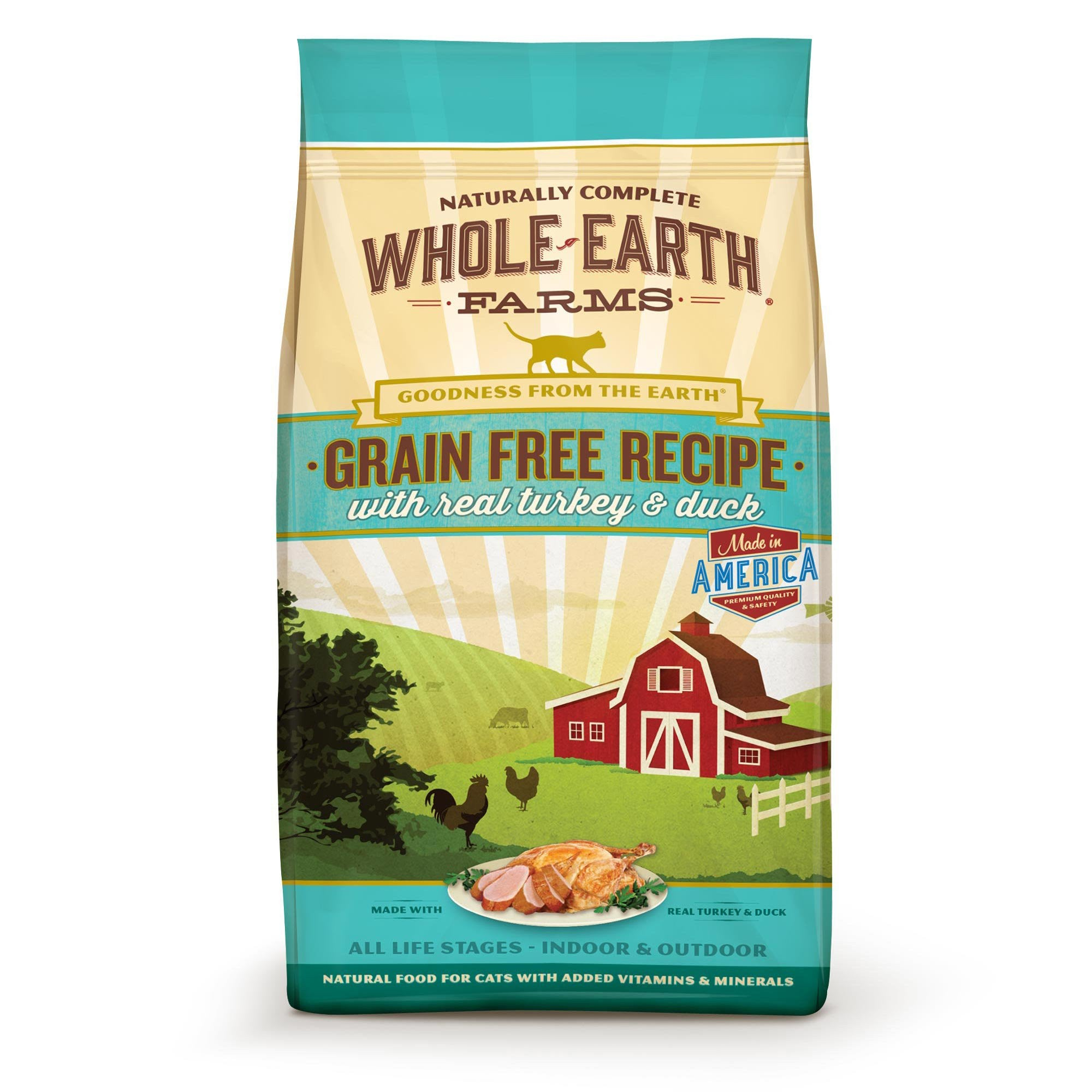 WHOLE EARTH FARMS Grain Free Cat Food by Merrick - Turkey and Duck - For All Ages - Canadian Pet Connection