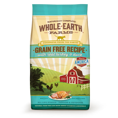 WHOLE EARTH FARMS Grain Free Cat Food by Merrick - Turkey and Duck - For All Ages