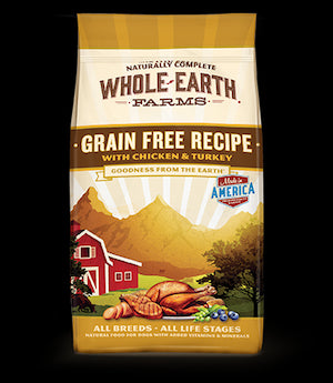 WHOLE EARTH FARMS Grain Free Chicken and Turkey Dog Food by Merrick - for All Life Stages