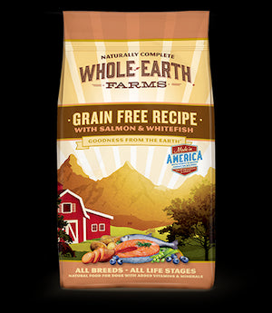 WHOLE EARTH FARMS Grain Free Salmon and Whitefish Dog Food by Merrick - for All Life Stages