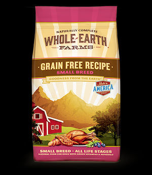 WHOLE EARTH FARMS Grain Free Small Breed Dog Food by Merrick - for All Life Stages