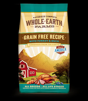 WHOLE EARTH FARMS Grain Free Turkey and Duck Dog Food by Merrick - for All Life Stages