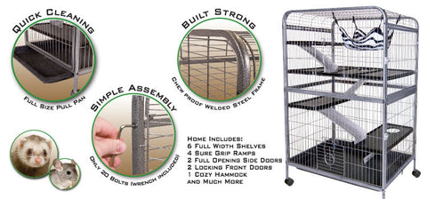 Ferret cages ferret products canadian pet connection for Critter ware living room series
