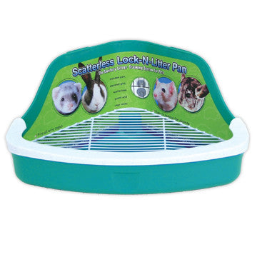 Ware Scatterless Lock N Litter Ferret and Small Animal Litter Pan